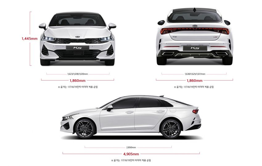 Kia Reveals Technical Details of the All New 2020 K5/ Optima 4
