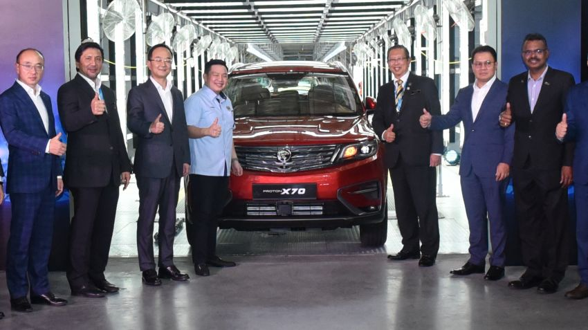 First CKD Proton X70 Rolls Off the Assembly Lines in Malaysia 1