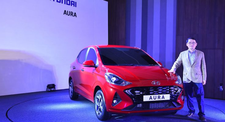 Hyundai's Newest Aura Subcompact Sedan Debuts in India 1