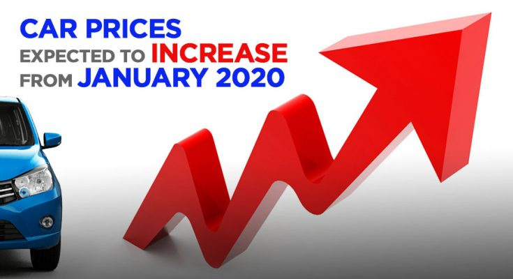 Car Prices to Increase from January 2020 1