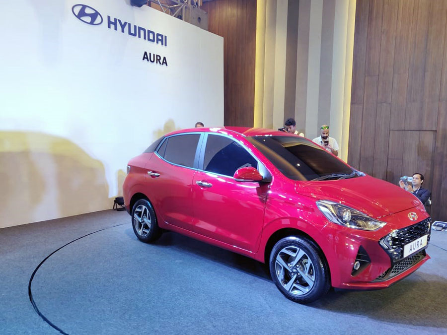 Hyundai's Newest Aura Subcompact Sedan Debuts in India 6