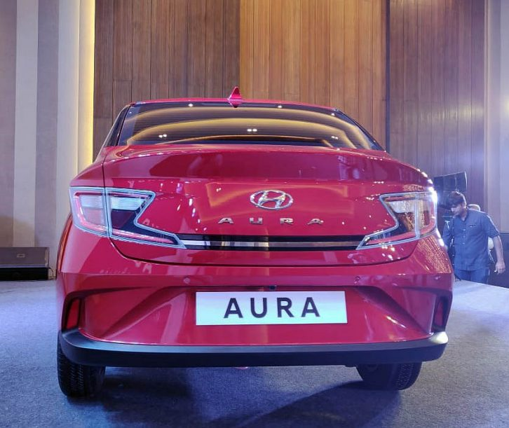 Hyundai's Newest Aura Subcompact Sedan Debuts in India 5
