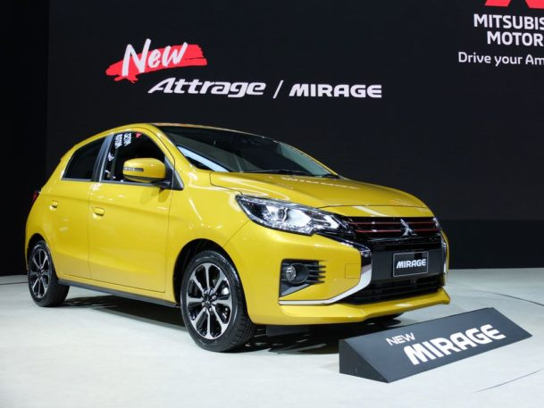 New Mitsubishi Mirage and Attrage Displayed at 2019 Thai Motor Expo 2