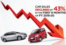 Car Sales Declined by 43% in H1, 2019-20 8