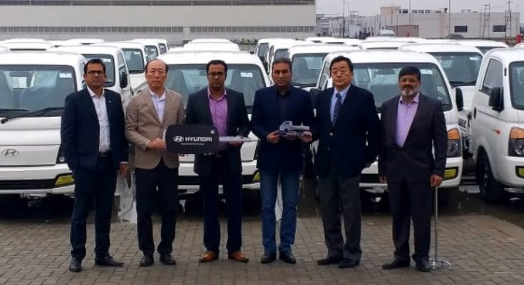 Fleet Handing Over Ceremony- 45 Units of Hyundai Porter H-100 Pickup Delivered to a Local Distributor Company 1