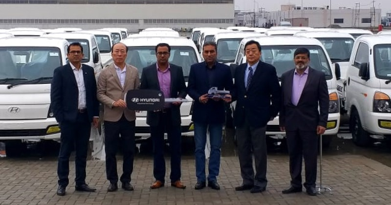 Fleet Handing Over Ceremony- 45 Units of Hyundai Porter H-100 Pickup Delivered to a Local Distributor Company 10