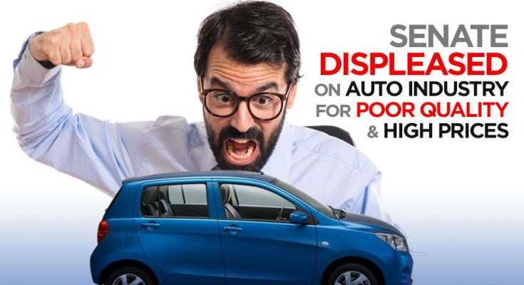 Senate Displeased on Auto Industry for Low Quality and High Prices 1