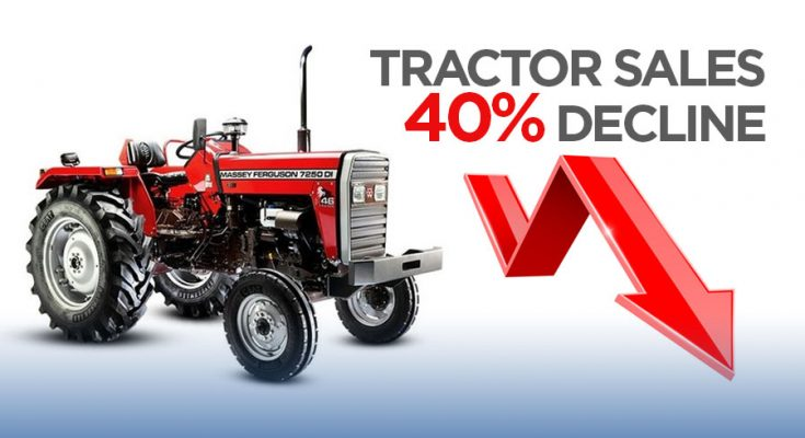 Tractor Sales Declined by 40% 2