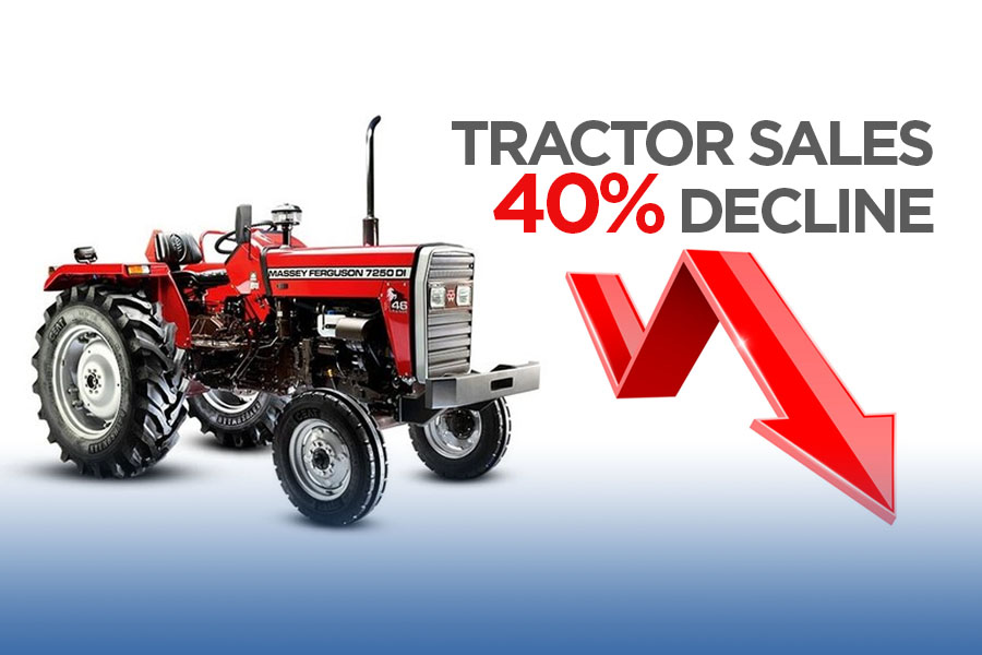 Tractor Sales Declined by 40% 6