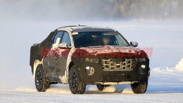 Hyundai Santa Cruz Pickup Caught Testing in Finland 2