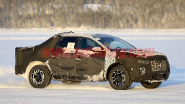 Hyundai Santa Cruz Pickup Caught Testing in Finland 3