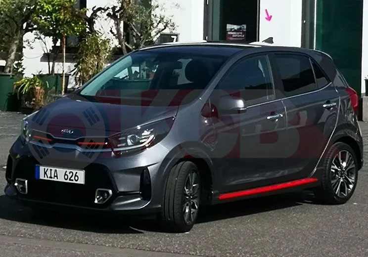 2021 Kia Picanto Facelift Spied Undisguised for the First Time 4