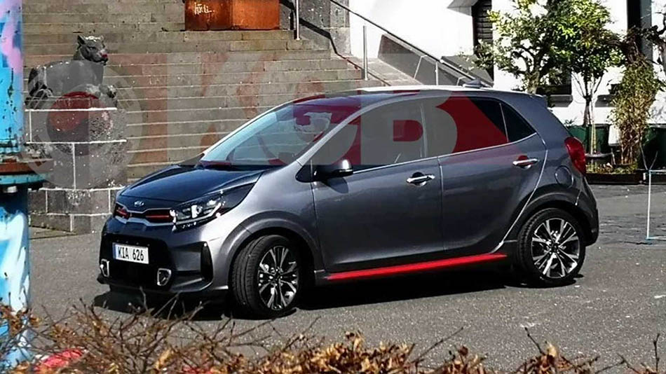 2021 Kia Picanto Facelift Spied Undisguised for the First Time 1