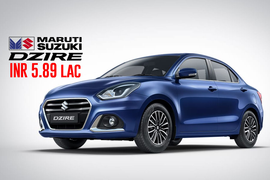2020 Suzuki Dzire Facelift Launched in India from INR 5.89 lac 2