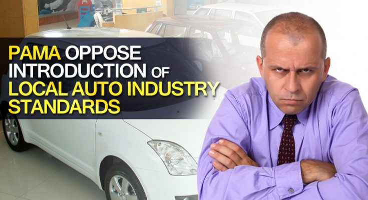 PAMA Oppose Introduction of Local Auto Industry Standards 1