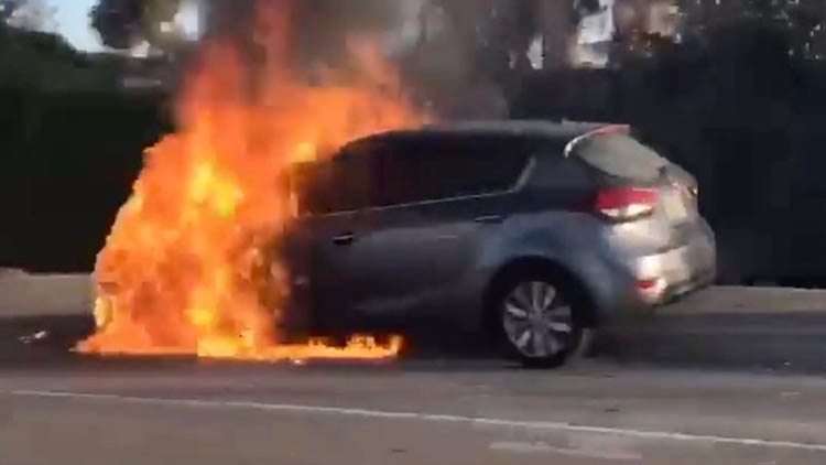First Kia Sportage Catches Fire in Pakistan 1