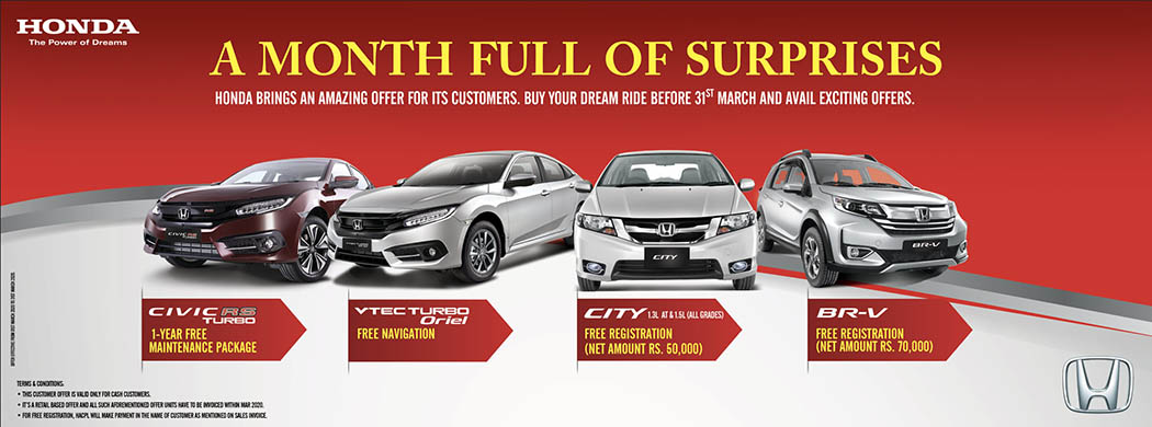 Honda Offers 'Month Full of Surprises' to Lure Customers 2
