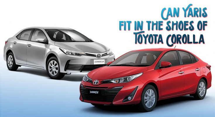 Can Yaris Fit in the Shoes of Toyota Corolla 1