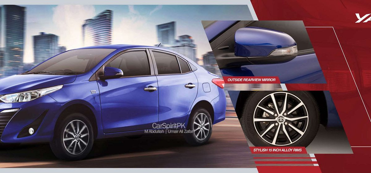 2020 Toyota Yaris Alloy Wheels and Mirror Side Indicators