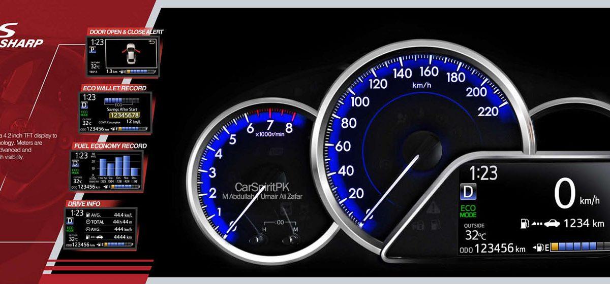 2020 Toyota Yaris Information Meters view