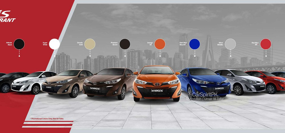 2020 Toyota Yaris All Available Colors