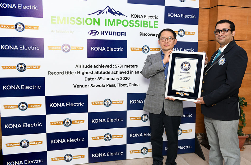 Hyundai Kona Electric Makes it to Guinness World Records 2