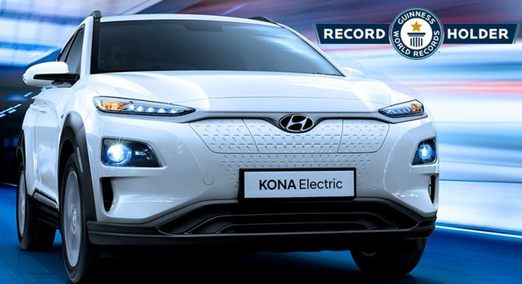 Hyundai Kona Electric Makes it to Guinness World Records 1