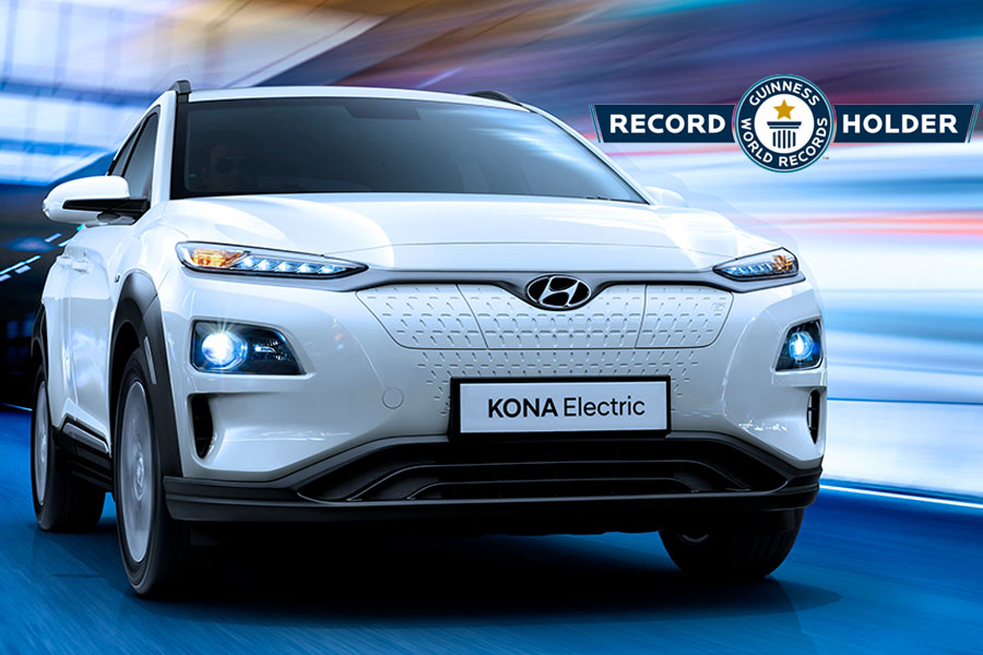 Hyundai Kona Electric Makes it to Guinness World Records 4