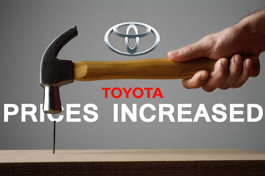 Toyota Car Prices Increased by Up to Rs 500,000 1