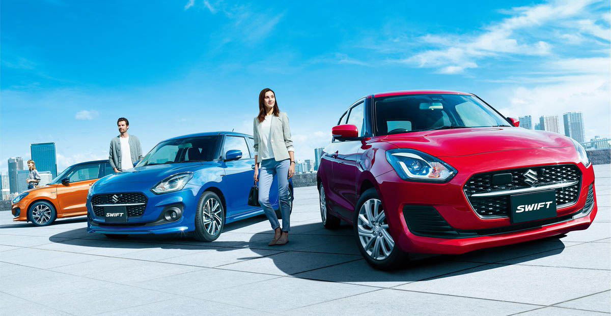 2020 Suzuki Swift Facelift Launched in Japan 2