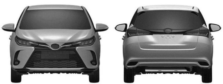 3rd Gen Toyota Yaris XP150 Facelift Leaked in Patent Images 4