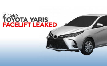 3rd Gen Toyota Yaris XP150 Facelift Leaked in Patent Images 13