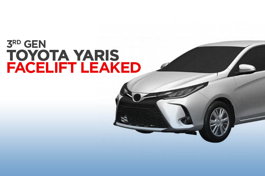 3rd Gen Toyota Yaris XP150 Facelift Leaked in Patent Images 1