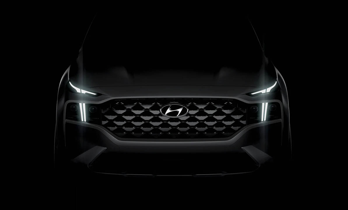 New 2021 Hyundai Santa Fe Facelift Teased 9