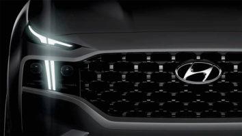 New 2021 Hyundai Santa Fe Facelift Teased 3