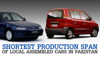 Cars with Shortest Production Span in Pakistan 16