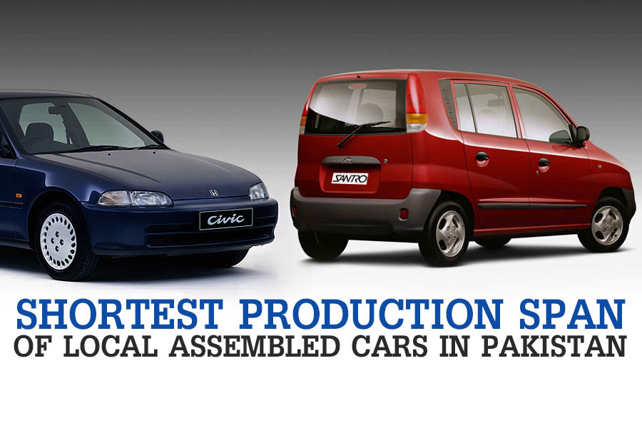 Cars with Shortest Production Span in Pakistan 1