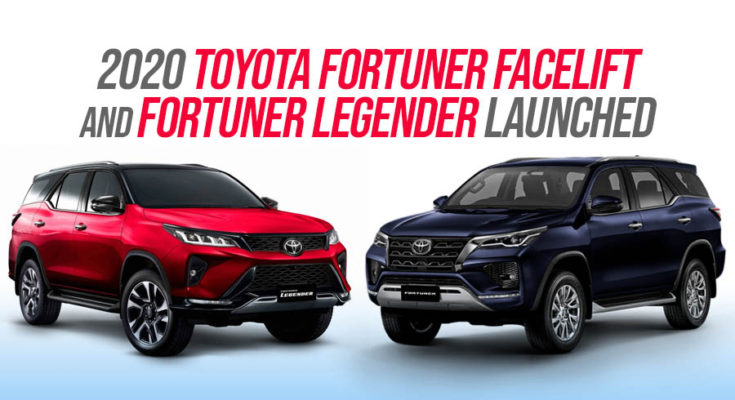 2020 Toyota Fortuner Facelift Debuts in Thailand 1