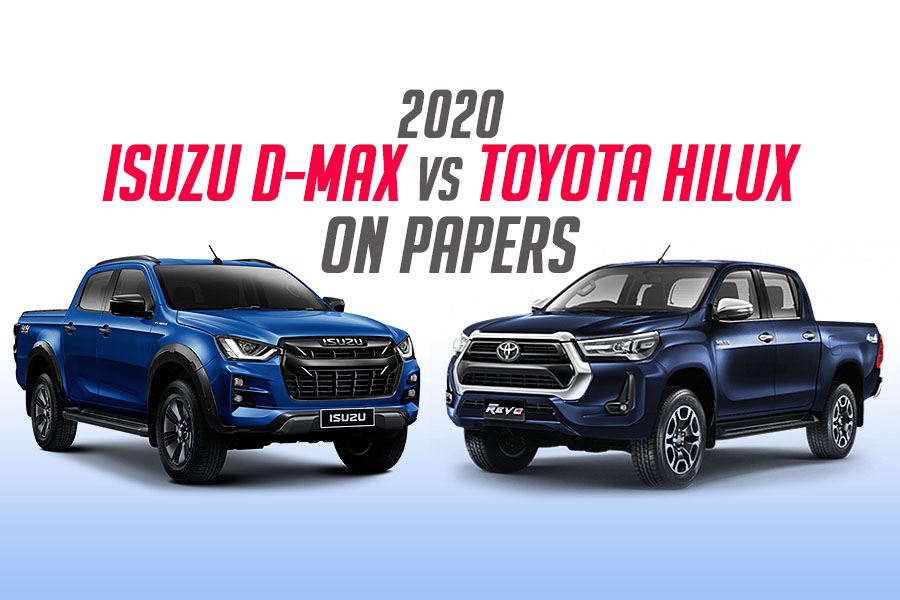 New Toyota Hilux vs Isuzu D-MAX on Papers 2
