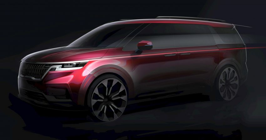 Next Generation Kia Grand Carnival Teased 7