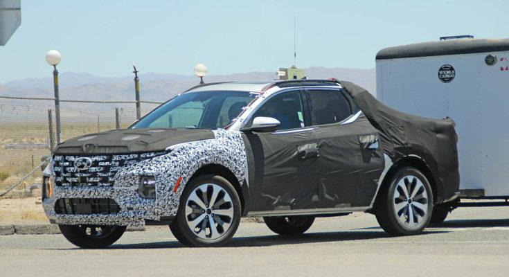 Latest Spy Shots Shows Hyundai Santa Cruz Practicality 1