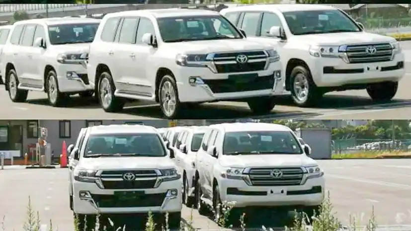 2021 Toyota Land Cruiser Facelift Spied In Japan 1