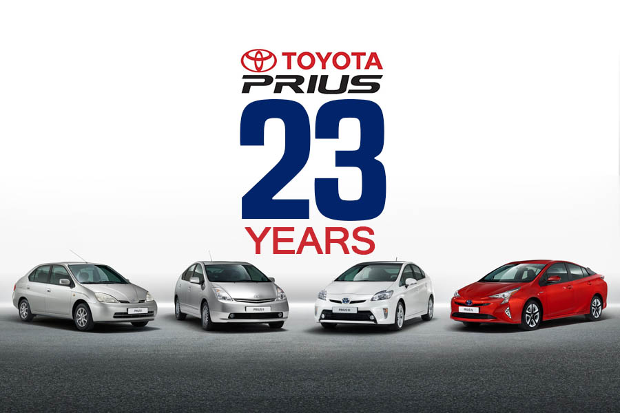 23 years of Toyota Prius 1