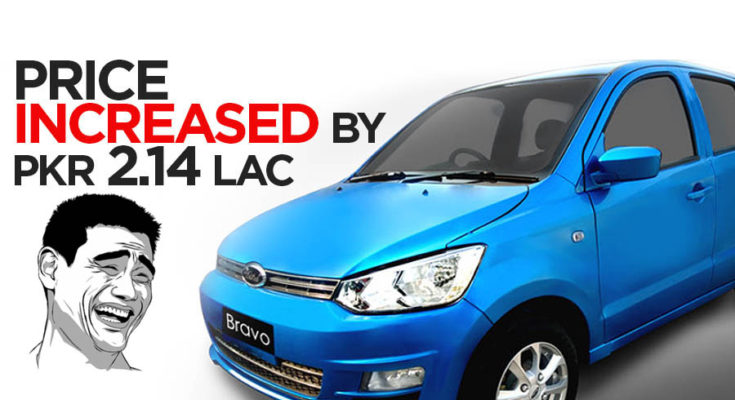 United Bravo Price Increased by PKR 2.14 Lac 1