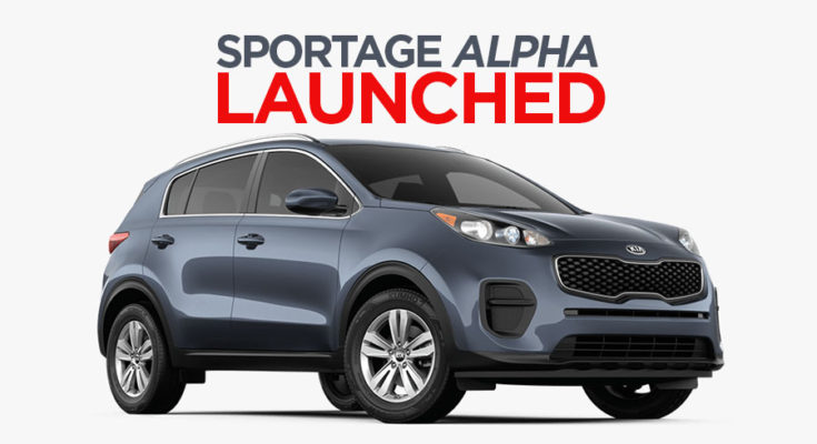 Kia Introduces Sportage Alpha 1