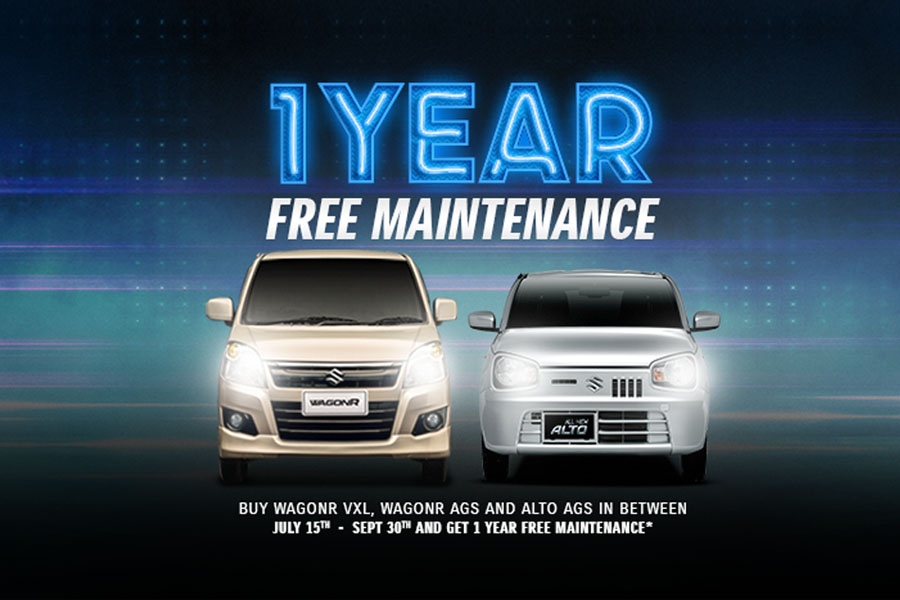 Pak Suzuki Offering 1 Year Free Maintenance on Selected Models 1