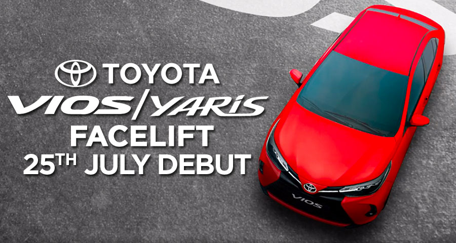 2020 Toyota Yaris/ Vios Facelift to Launch on 25th July 2