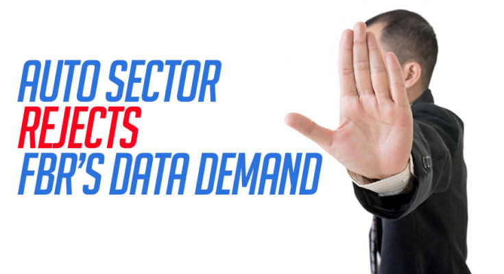Auto Sector Rejects FBR's Data Demand 1