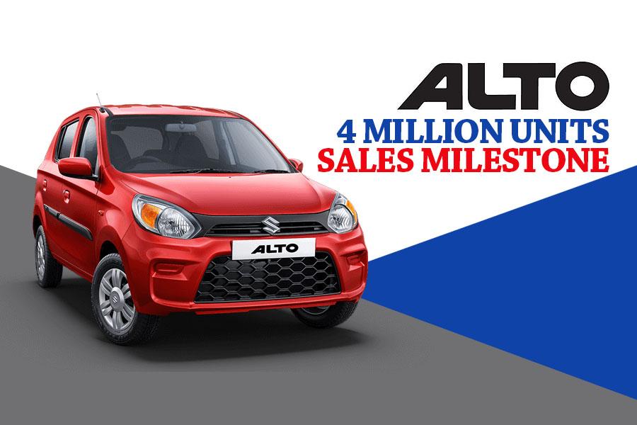 Alto Surpass 4 Million Sales Milestone in India 2