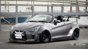 Daihatsu Copen Cosplays as Nissan GT-R 3